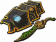 Gear No: 851015  Name: Legends of Chima Scorpion Shield and Sword