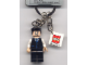 Gear No: 851029  Name: J. Jonah Jameson, Black Suit Torso Key Chain with 2 x 2 Square Lego Logo Tile