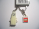Gear No: 851036b  Name: Minifigure Ghost Key Chain with Lego Logo Tile, Modified 3 x 2 Curved with Hole