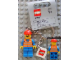 Gear No: 851037  Name: Train Worker/Construction Worker (World City) Key Chain with 2 x 2 Square Lego Logo Tile