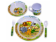 Gear No: 851617  Name: Food - LEGOville Zoo Dinner Set 'IT'S ZOO TIME!' Pattern