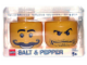 Gear No: 851749  Name: Food - Salt & Pepper Shaker - Minifigure Heads
