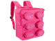 Gear No: 851950  Name: Backpack Brick Shape with Zippered Studs, Pink