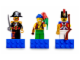 Gear No: 852543  Name: Magnet Set, Minifigs Pirates II (3) - Captain Brickbeard, Pirate, Imperial Soldier II - with 2 x 4 Brick Bases