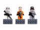 Gear No: 852553  Name: Magnet Set, Minifigures SW (3) - Stormtrooper, Y-Wing Pilot, AT-ST Pilot - with 2 x 4 Brick Bases