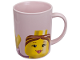 Gear No: 852674  Name: Food - Cup / Mug, Minifig Head Female Pattern Pink