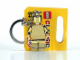 Gear No: 852688  Name: Golden Minifigure Key Chain (Chrome Gold)