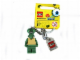 Gear No: 852714  Name: Squidward (Modified Head) Key Chain Lego Logo Tile, Modified 3 x 2 Curved with Hole