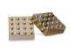 Gear No: 852745  Name: Magnet Set, Bricks 4 x 4 Chrome Gold