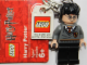 Gear No: 852954  Name: Harry Potter Gryffindor Crest Key Chain with Lego Logo Tile, Modified 3 x 2 Curved with Hole