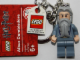 Gear No: 852979  Name: Dumbledore (without glasses) Key Chain with Lego Logo Tile, Modified 3 x 2 Curved with Hole