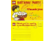 Gear No: 852998ty  Name: Birthday Party Thank you Card
