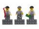 Gear No: 853092  Name: Magnet Set, Minifigures City (3) - Burglars - Glued with 2 x 4 Brick Bases