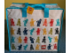 Gear No: 853179  Name: Tote Bag, PVC Multicolored Minifigures Pattern
