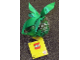 Gear No: 853346  Name: Christmas Tree Ornament, Clear Ball with Snowflakes Pattern, Bricks and Green Ribbon