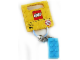 Gear No: 853380  Name: 2 x 4 Brick - Medium Azure Key Chain