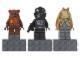 Gear No: 853414  Name: Magnet Set, Minifigures SW (3) - Wicket, V-Wing Pilot, Jar Jar Binks - Glued with 2 x 4 Brick Bases