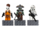 Gear No: 853421  Name: Magnet Set, Minifigures SW (3) - Aurra Sing, Embo, ARF Trooper - Glued with 2 x 4 Brick Bases