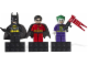 Gear No: 853431  Name: Magnet Set, Minifigs Super Heroes (3) - Batman, Robin, Joker - Glued with 2 x 4 Brick Bases