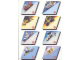 Gear No: 920150b  Name: Sticker, School Book Labels (Bookplates) - Multi-theme (920. 150) Parallelograms