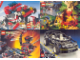 Gear No: 923422  Name: Postcard - Various Theme Postcards, Sheet of 4 - Town, Pirates, Technic, Spyrius