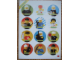 Gear No: 93604w  Name: Sticker, Legoland Town People (93.604-SF)