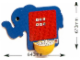 Gear No: 9409b  Name: Playpoint Elephant Wall Board