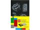 Gear No: 9788867326198  Name: Notebook, Plain Brick Blueprints Pattern (Moleskine) with Stickers (Black)