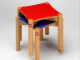 Gear No: 9817b  Name: LEGO Stools for Multi Table (red and blue top)