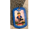 Gear No: Dogtag04  Name: Dog Tag, The LEGO Ninjago Movie Jay Pattern