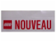 Gear No: Gstk007  Name: Sticker, 'NOUVEAU' Pattern, 15cm x 6cm