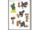 Gear No: Gstk008a  Name: Sticker, Legoland Billund and Movie 'Valiant' images, 6 on 15cm x 21cm sheet