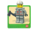 Gear No: Gstk018  Name: Sticker, Minifigure Firefighter