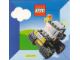 Gear No: Gstk030  Name: Sticker, Legoland Set 6675 Road & Trail 4x4 Image