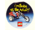 Gear No: Gstk061  Name: Sticker, I'M BORN TO BE WILD!