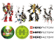 Gear No: Gstk135  Name: Sticker, Hero Factory - Sheet of 9