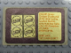 Gear No: Gstk139  Name: Sticker, Golden Bricks Promotion Golden Studs 75 - Sheet of 4