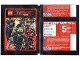 Gear No: Gstk200  Name: Sticker, The Lego Ninjago Movie Promotional Packet of 5 (German)
