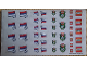 Gear No: Gstk203  Name: Sticker, Soccer (Football) Sheet, Serbia Team (4324465 SR)