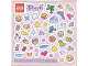 Gear No: Gstk205  Name: Sticker, Friends, Sheet of 44 (6206692/6206781)