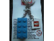 Gear No: KC031  Name: 2 x 4 Brick - Blue Key Chain with 2 x 2 Square Lego Logo Tile