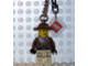 Gear No: KC037  Name: Johnny Thunder (Brown Jacket) Key Chain with 2 x 2 Square Lego Logo Tile