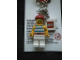 Gear No: KC043  Name: Pirate with Striped Shirt and Red Bandana Key Chain with 2 x 2 Square Lego Logo Tile