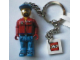 Gear No: KC047  Name: Octan Tanker Truck Driver Key Chain with 2 x 2 Square Lego Logo Tile