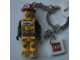 Gear No: KC058  Name: Firefighter Key Chain with 2 x 2 Square Lego Logo Tile
