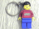Gear No: KC073  Name: Classic Town Minifigure with Lego Logo Key Chain