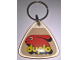 Gear No: KC093b  Name: Duplo Logo on 5 x 5 Clear Plastic - Triangle Shape Key Chain