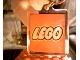 Gear No: KC094b  Name: Lego Logo Both Sides on 5 x 5 Clear Plastic - Square Key Chain (Older Style - Hole above main area of plastic square)