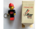 Gear No: KC118  Name: Maxifigure Key Chain, Fireman with Lego Logo Pattern (Sticker) - Cycolac ABS Promotional