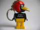 Gear No: KCF04  Name: Crow 1 Key Chain - newer metal chain, LEGO centre / Birkenhead Point Sydney pattern on torso
